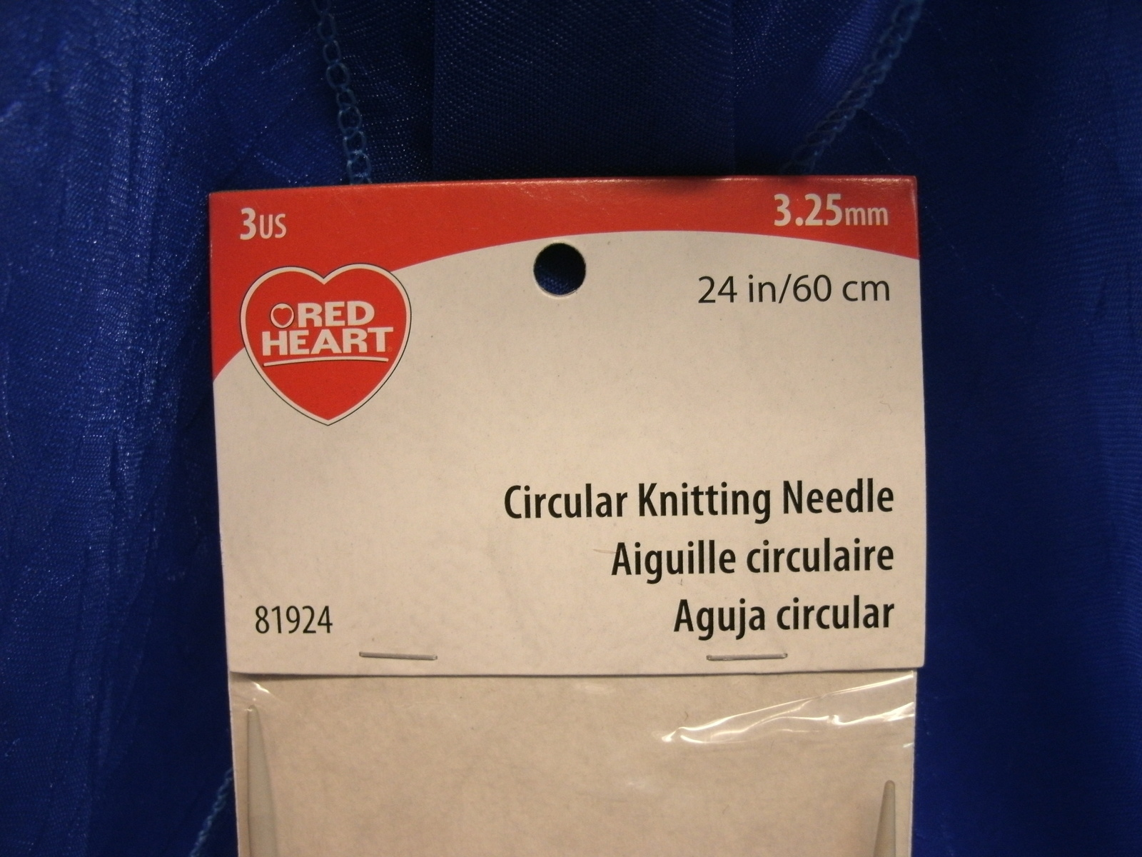 """Red Heart CIRCULAR KNITTING NEEDLE - NEW - 3.25mm 24""""/ 60cm Sizes 3 US 81924 - $6.99"""