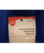 """Red Heart CIRCULAR KNITTING NEEDLE - NEW - 3.25mm 24""""/ 60cm Sizes 3 US 8... - $6.99"""