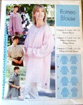 Romeo Blouse Pattern Sizes 4 - 22, Uncut, Sewing Step-by-Step # 0120-052-085  - $10.00