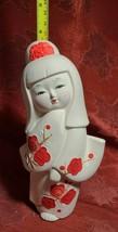 """Vintage Ceramic Japanese Geisha Doll Statute Figure KawaiI Cute 7.5"""" Made Japan image 2"""