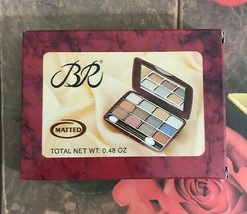 BR Matted Eye Shadow Assorted Colors 12 Shades With Mirror  - $5.00