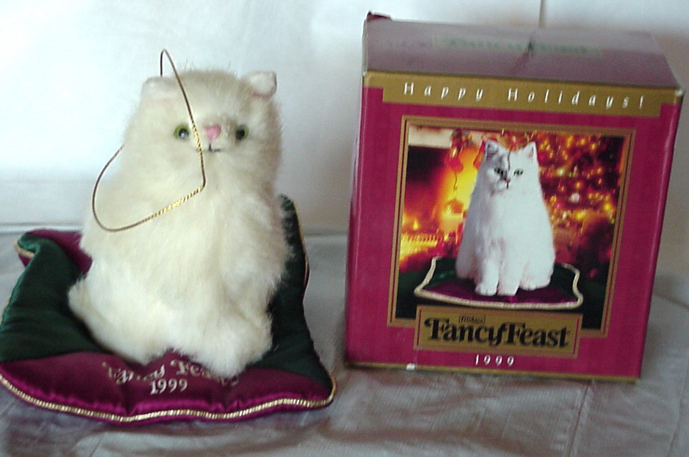 Primary image for Vintage Advertising 1999 Fancy Feast Cat Food Commemorative Christmas Ornament