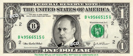 VLADIMIR PUTIN on REAL Dollar Bill - Celebrity Collectible Custom Cash - $3.33