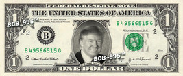 DONALD TRUMP on a REAL Dollar Bill Cash Money Collectible Memorabilia Ce... - $7.77
