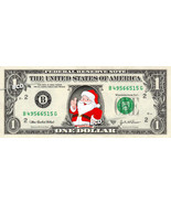 SANTA CLAUS on REAL Dollar Bill - Collectible Celebrity Cash Money Art C... - $8.88