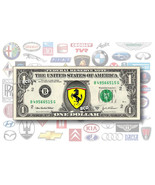 ONE(1) Auto Logo on REAL Dollar Bill - Collecti... - $3.33
