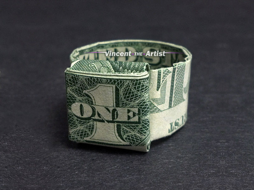 How to Fold a Dime in a Dollar Bill: 14 Steps (with Pictures) | 612x816