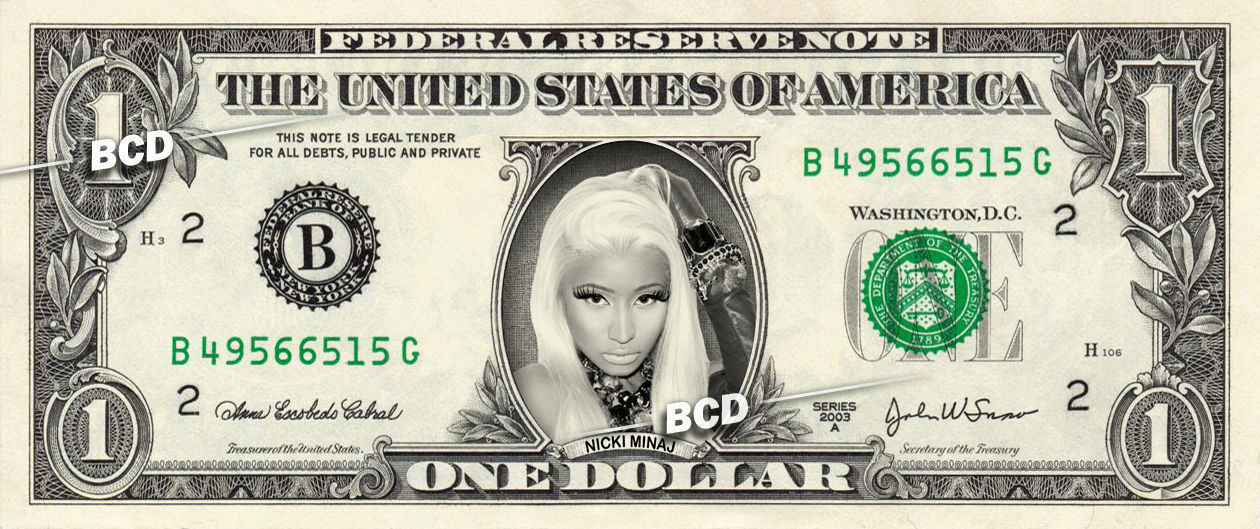 Primary image for NICKI MINAJ on REAL Dollar Bill - Collectible Cash Collectible Celebrity Money