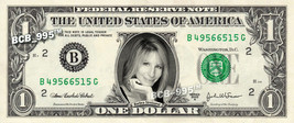 BARBRA STREISAND on REAL Dollar Bill - Celebrity Collectible Custom Cash - $3.33