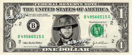 CLINT EASTWOOD on REAL Dollar Bill - Celebrity Collectible Custom Cash - $3.33