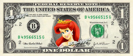 ARIEL Princess on a REAL Dollar Bill Disney Cash Money Memorabilia Colle... - $6.66