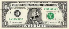 Disney's JIMINY CRICKET Pinnochio on REAL Dollar Bill Spendable Cash Mon... - $3.33