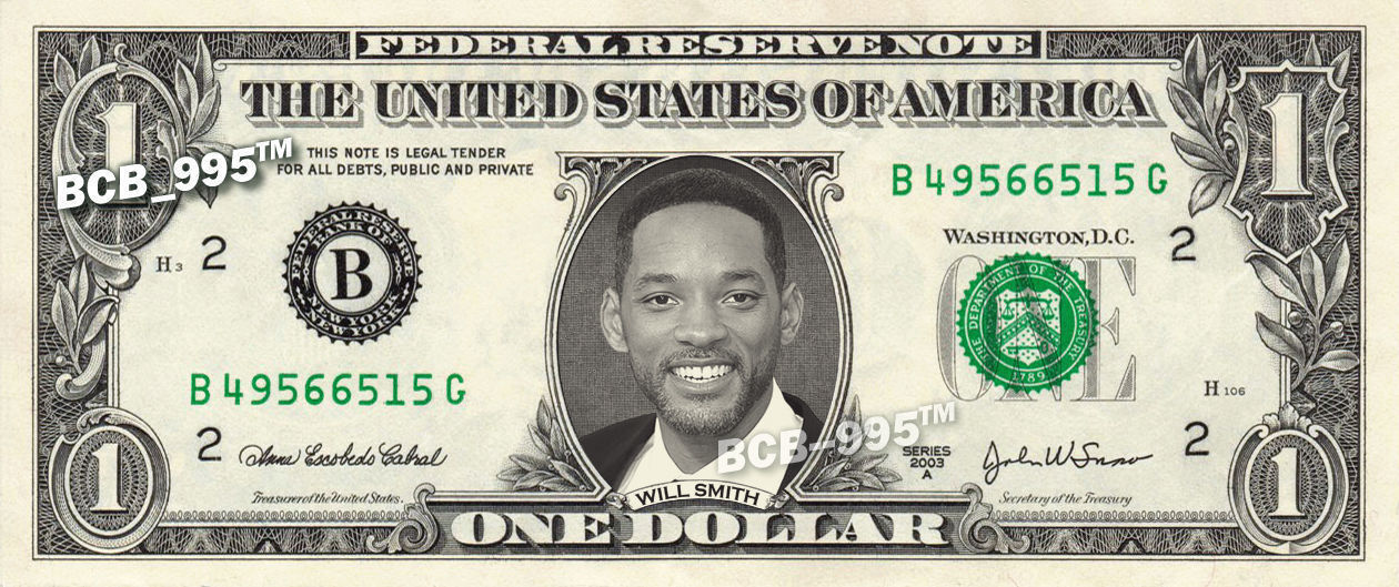 Primary image for WILL SMITH on REAL Dollar Bill - Celebrity Collectible Custom Cash