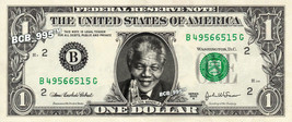NELSON MANDELA on REAL Dollar Bill - Celebrity Collectible Custom Cash - $3.33