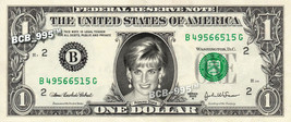 PRINCESS DIANA on REAL Dollar Bill - Collectible Celebrity Custom Cash M... - $3.33