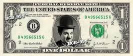 CHARLIE CHAPLIN on REAL Dollar Bill - Celebrity Collectible Custom Cash - $3.33