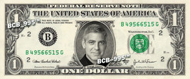 GEORGE CLOONEY on Real Dollar Bill - $1 Celebrity Cash Custom Money - $3.33