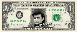 JOHNNY CASH on A REAL Dollar Bill Cash Money Collectible Memorabilia Cel... - $4.50