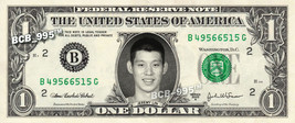 JEREMY LIN on REAL Dollar Bill - Celebrity Collectible Custom Cash - $3.33