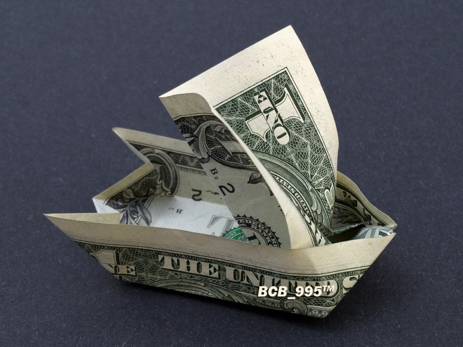 MONEY ORIGAMI sailing ship folding tutorial with one Dollar bill ... | 1200x1600