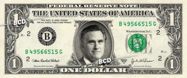 MITT ROMNEY on REAL Dollar Bill - Spendable Cash Collectible Celebrity M... - $3.33