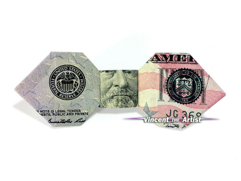 Bow Tie Money Origami Dollar Bill Cash Art And 50 Similar Items