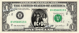 AC DC on REAL Dollar Bill - Collectible Celebrity Custom Cash Money Art ... - $5.55