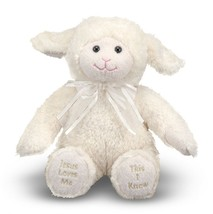 Melissa & Doug Jesus Loves Me Lamb Plush - Stuffed Animal With Sound Eff... - $14.82