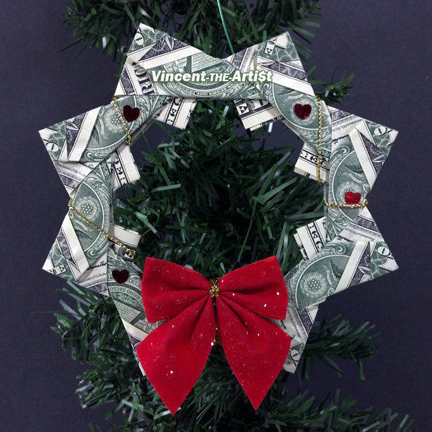 Dollar Bill Origami Christmas Tree: Beautiful Christmas Tree Ornament