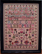Isabella Gray 1838 Antique Sampler Reproduction cross stitch Samplers Revisited - $15.00