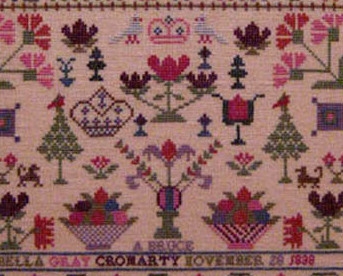 Isabella Gray 1838 Antique Sampler Reproduction cross stitch Samplers Revisited