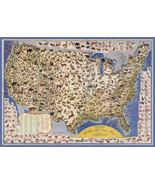 Designer decoration Poster.America Wildlife Game US.Map.Room Decor print.q512 - $9.90 - $79.20
