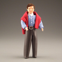 Dollhouse Dressed Man Caco DHS0092 Fexible Red Sweatshirt -Leather- Pants 1:12 - $41.30