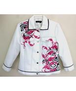 NWT Nancy Bolen White jean jacket S $165 Embell... - $69.99