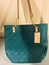 Michael Kors Deep Sea Green Jet Set NS Chain Tote Handbag - $188.09