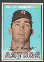 Houston Astros Chuck Harrison 1967 Topps Baseball Card 8 g/vg - $0.65