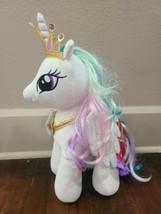 "Build A Bear My Little Pony 16"" Princess Celestia Plush w/ Necklace, Cap... - $33.85"