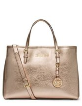 Michael Kors Jet Set Travel Medium East West Tote in Gold - $274.00