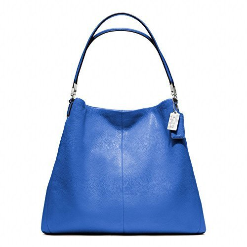 Coach Madison Small Phoebe Shoulder Bag 26224 (Silver/Lacquer Blue) [Apparel]