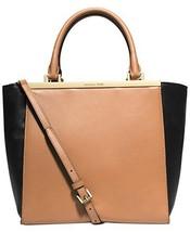 Michael Kors Lana Medium Tote Suntan/blk Leather [Accessory] - $344.52