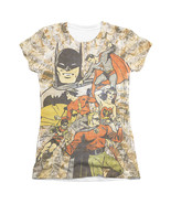 Justice League All Stars Sublimation Juniors Tee Shirt Beige - $19.98