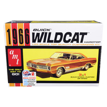 Skill 2 Model Kit 1966 Buick Wildcat Hardtop 3 in 1 Kit 1/25 Scale Model... - $45.99