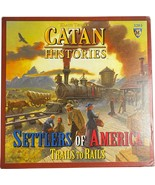 CATAN Histories Settlers of America: Trails to Rails Board Game, UNPUNCHED - $79.97