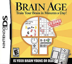 Brain Age: Train Your Brain in Minutes a Day (Nintendo DS, 2006) Game Only - $4.99