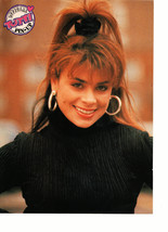Paula Abdul teen magazine pinup clipping close up black sweater gold eaarings 90