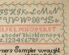 Miranda Turner 1816 Antique Sampler Reproduction cross stitch Samplers Revisited