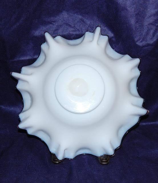 Antique Ruby Cased Milk White Gilt Scatter Ruffled Edge Victorian Brides Basket
