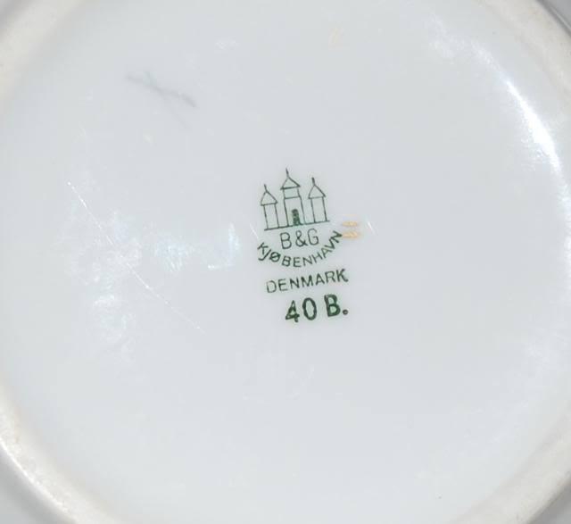 Bing & Grondahl Danish Porcelain Seagull Pattern Ruffle Edge Small Bowl 40B