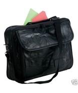 Black Hand-Sewn Pebble Grain Soft Leather Brief Case - $25.95