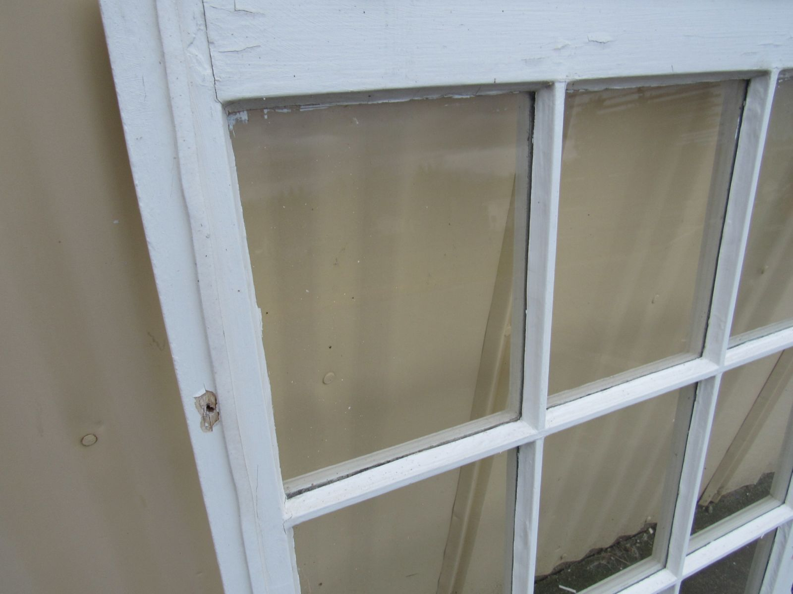 Handcrafted Antique Exterior True Divided Window Type D 38in x 30in Wood